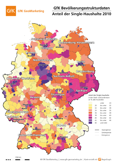Single haushalte deutschland 2010