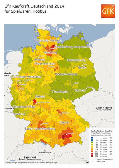 GfK Kaufkraft für Spielwaren und Hobbys Deutschland 2014 - GfK GeoMarketing