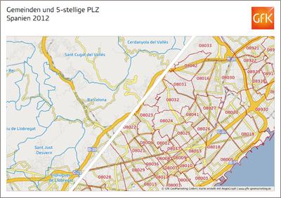 Europa-Edition 2012/2013 von GfK GeoMarketing zeigt noch mehr Details und aktuelle Grenzen