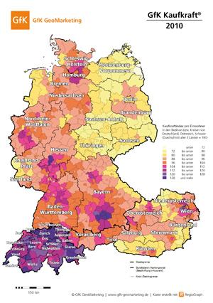 RegioGraph 2010 - mit Kaufkraft 2010 und den aktuellesten Karten für D-A-CH