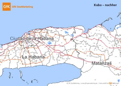Kuba - nachher - GfK GeoMarketing veröffentlicht den ersten Teil der Amerika Edition 2010