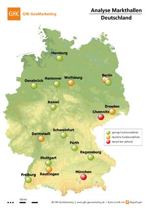 Analyse Markthallen Deutschland, GfK GeoMarketing