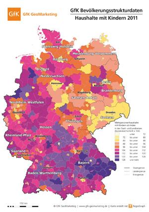 Haushalte mit Kindern: GfK Bevölkerungsstrukturdaten 2011 - GfK GeoMarketing
