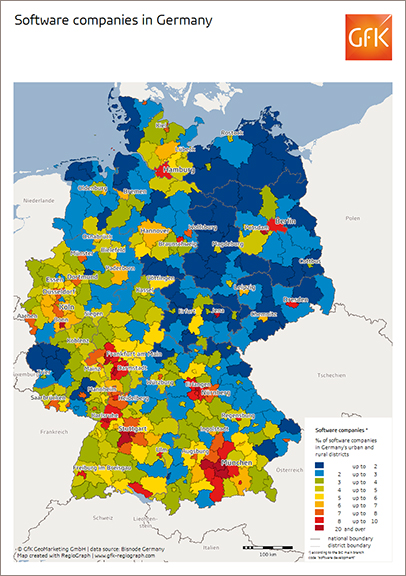 Map Of The Month GfK GeoMarketing - Germany map high resolution