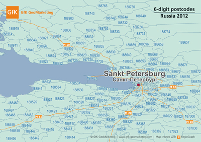 New digital maps of Russia - GfK GeoMarketing